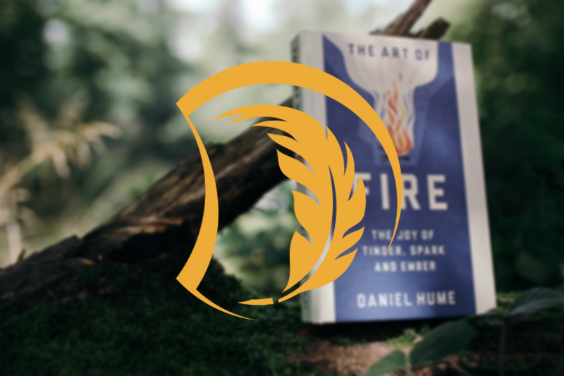 A blurred image of the Art of Fire book is overlaid with the yellow Inspiration icon.